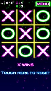 X wins!