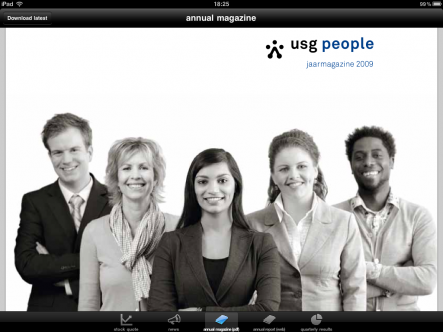 USG People investor news - ipad2