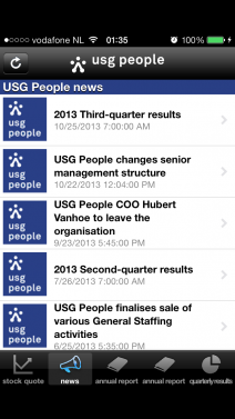 USG People investor news - iphone1