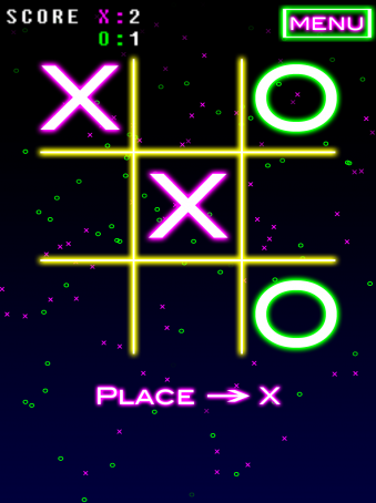 NeonTic Tac Toe - ipad2