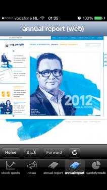 USG People investor news - iphone1