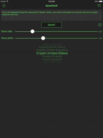 SpeakSwift - ipad2
