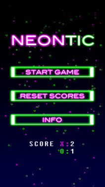 NeonTic Tac Toe - iphone1