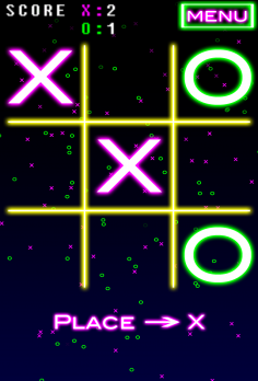 NeonTic Tac Toe - android_phone3